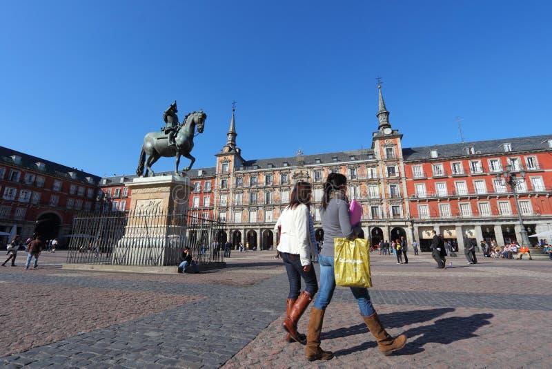 Alcalde de la plaza, Madrid foto de archivo