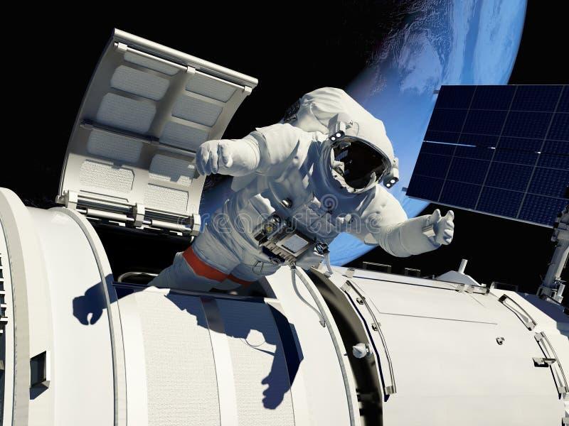 Alcance ao espaço. ilustração royalty free