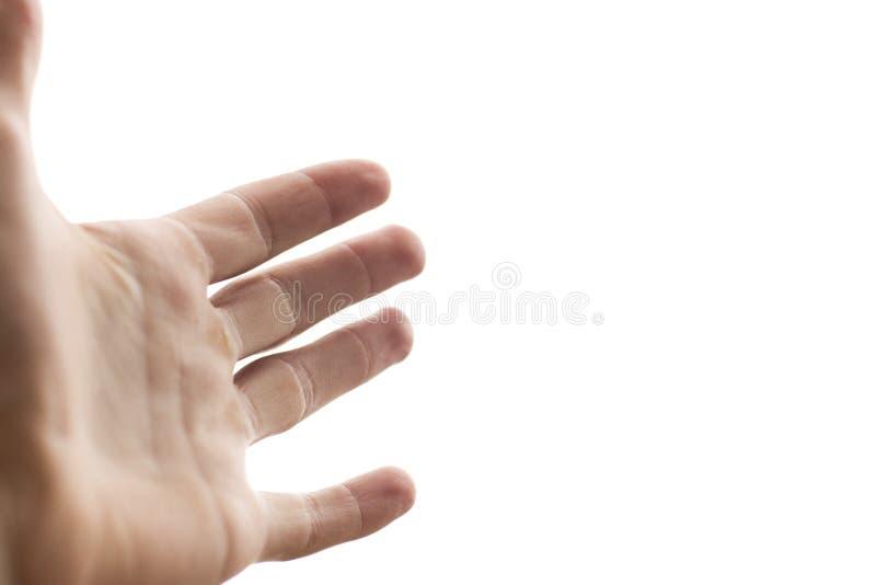 Alcance Da Mão Foto de Stock