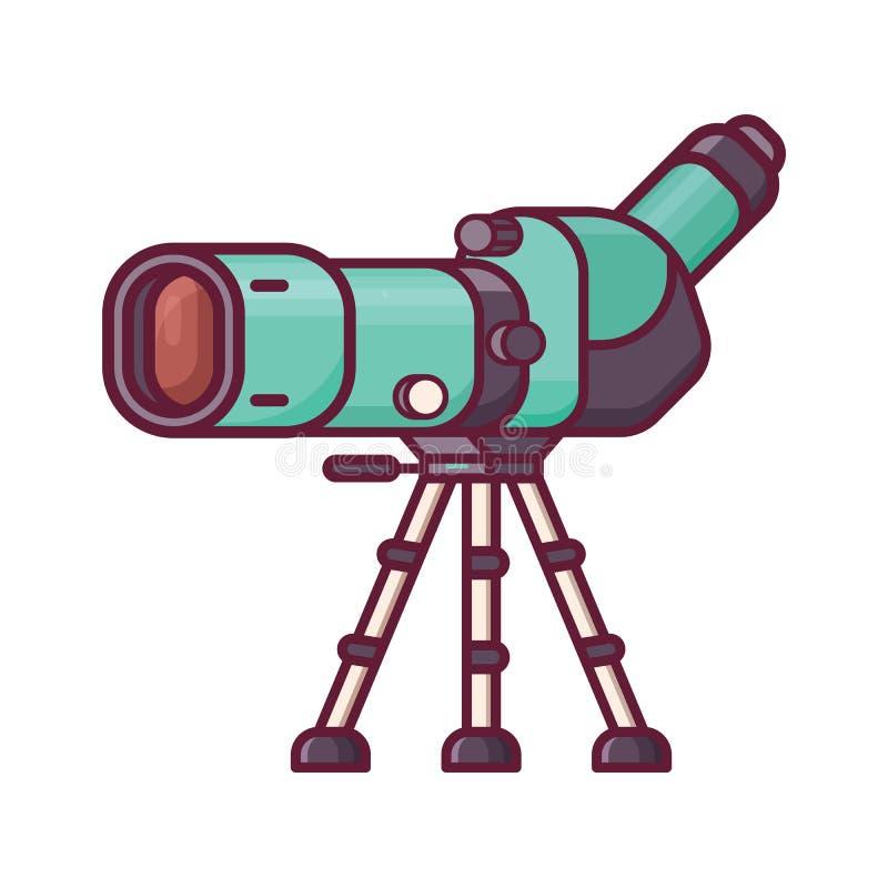 Alcance de la localización del viaje para Birdwatching stock de ilustración