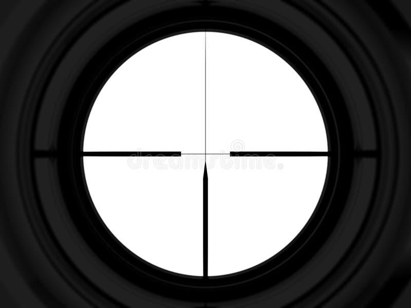Alcance del francotirador ilustración del vector