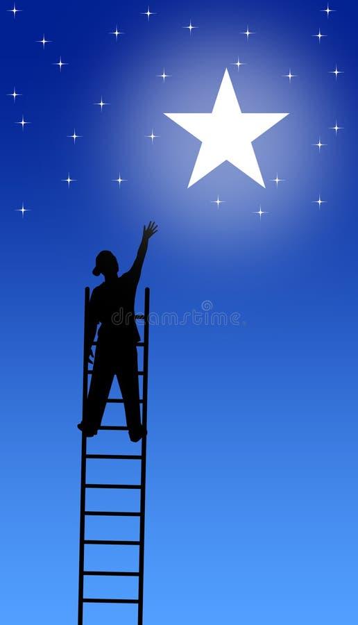Alcance para as estrelas ilustração stock