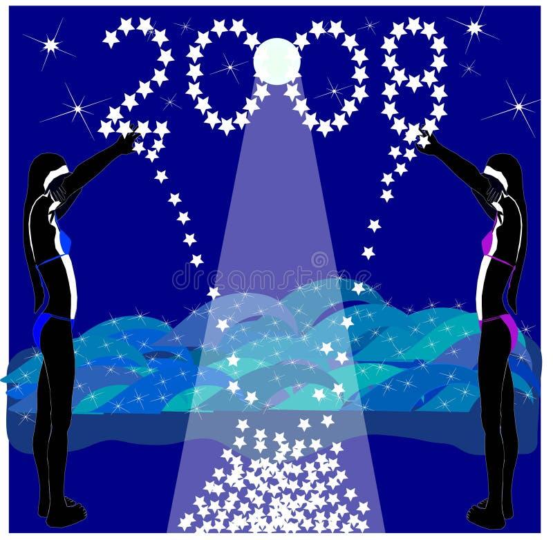 Alcance para as estrelas em 2008 ilustração do vetor