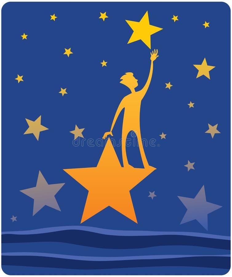 Alcance para estrelas ilustração stock