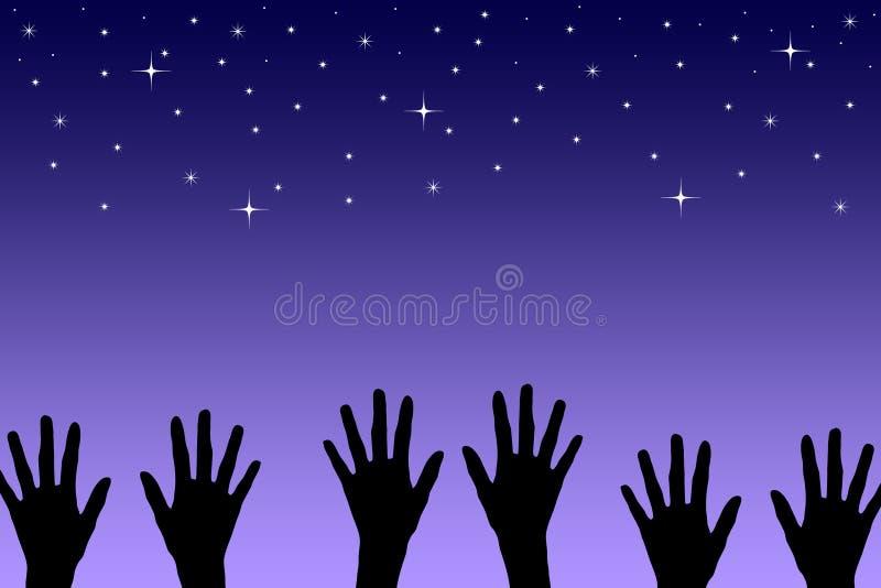 Alcance para las estrellas libre illustration