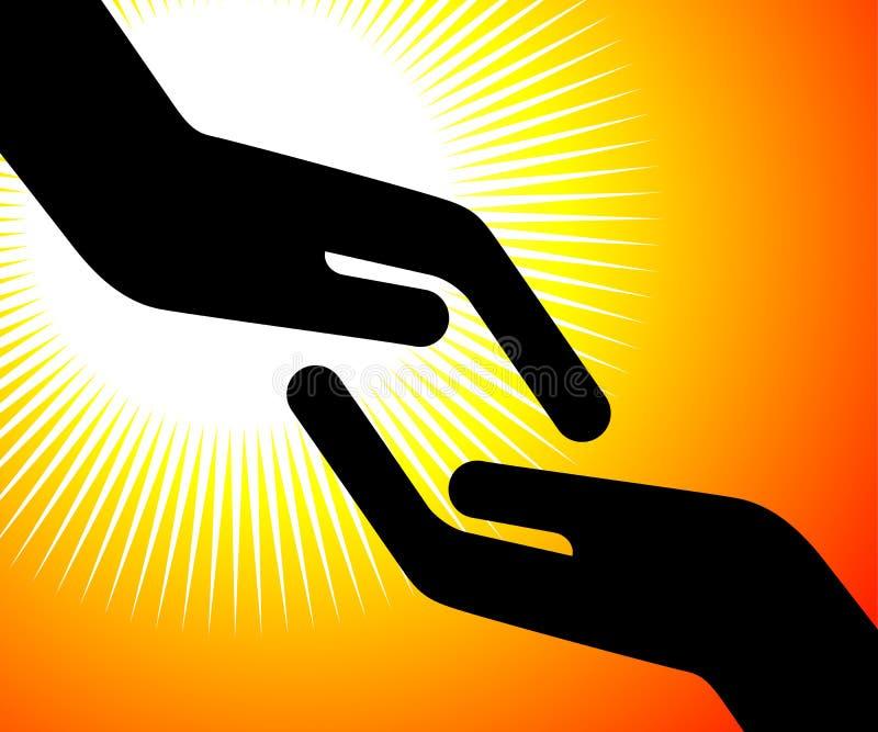 Alcangando a mão