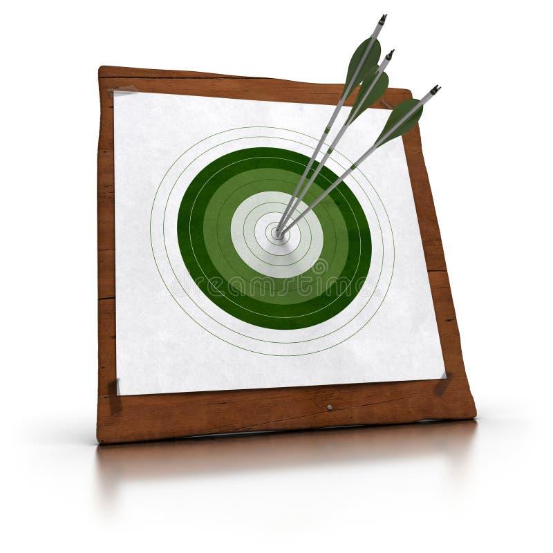 Alcangando objetivos ilustração stock