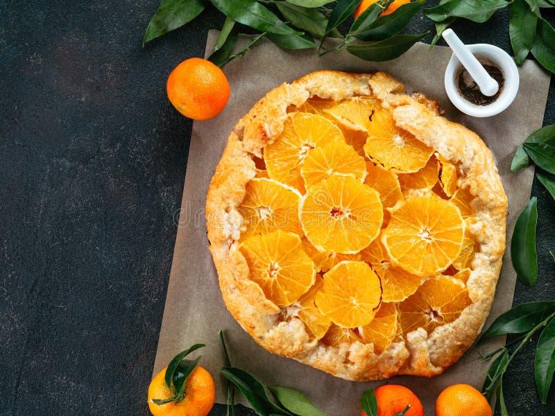 Alcaravea y tarta anaranjada imagen de archivo