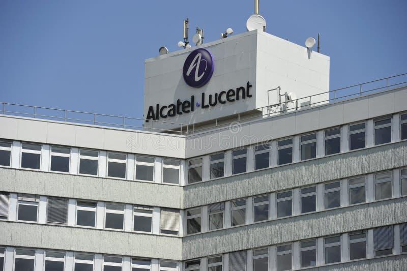 Alcatel-Lucent Duitsland, Stuttgart stock foto