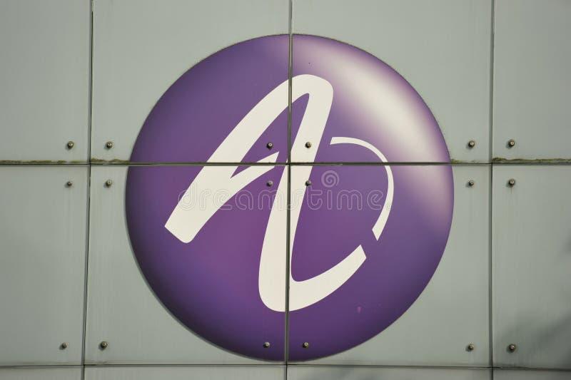 Alcatel-Lucent, marchio dell'azienda fotografia stock
