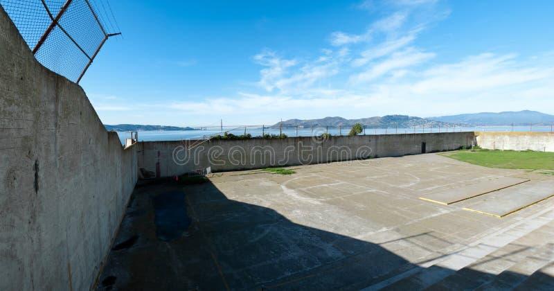 alcatrazövningsgård arkivfoto