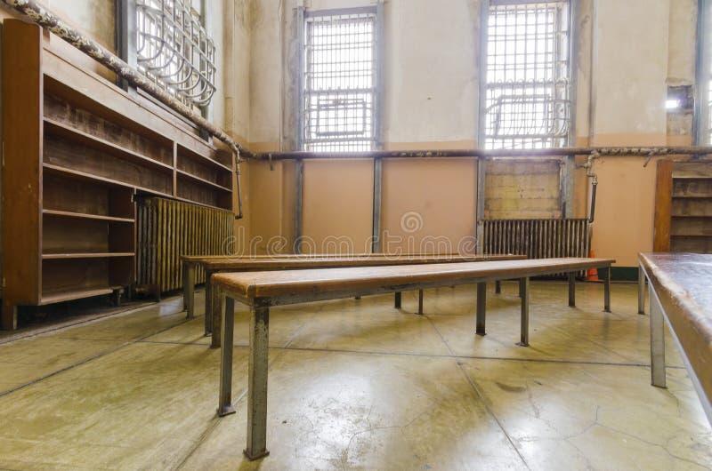 Alcatraz图书馆,旧金山,加利福尼亚 免版税库存照片