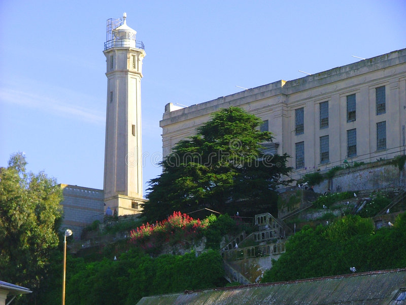 alcatraz塔 库存照片