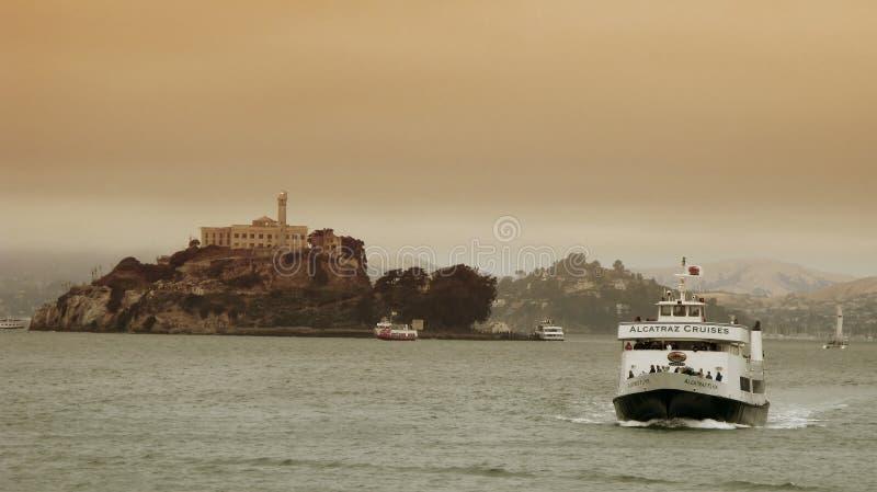alcatraz巡航弗朗西斯科・圣 免版税库存照片