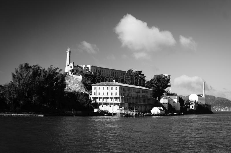 ALCATRAZ监狱,旧金山加利福尼亚 免版税图库摄影