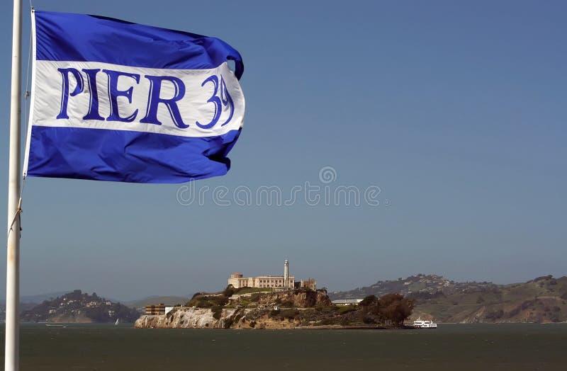 Alcatraz ö royaltyfri bild