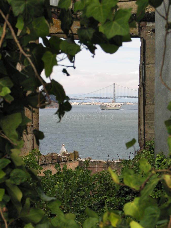 alcatraz παράθυρο στοκ εικόνα