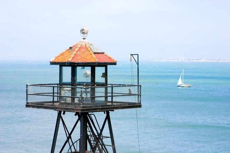 alcatraz ρολόι πύργων στοκ φωτογραφίες