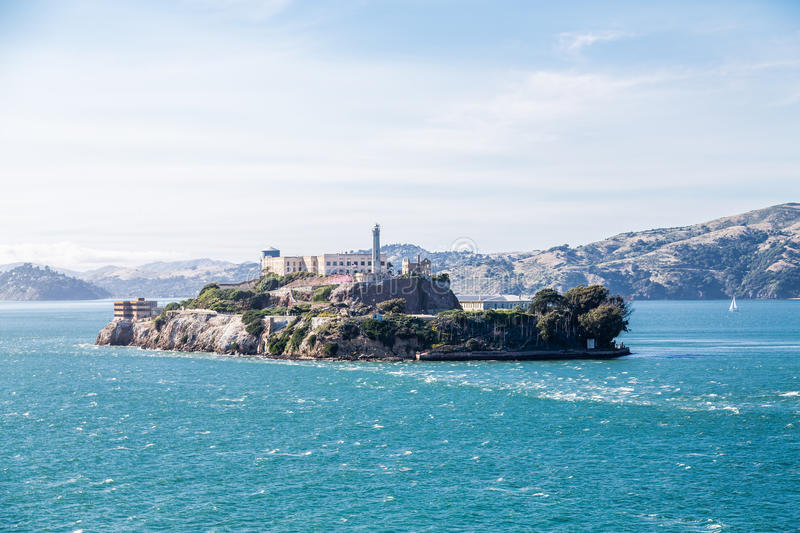 Alcatraz την ηλιόλουστη ημέρα στοκ εικόνα