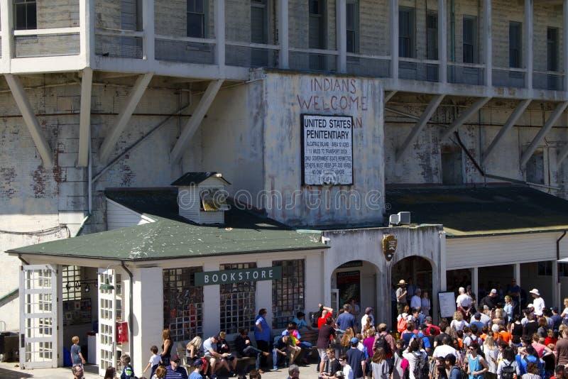alcatraz, котор нужно приветствовать стоковое изображение