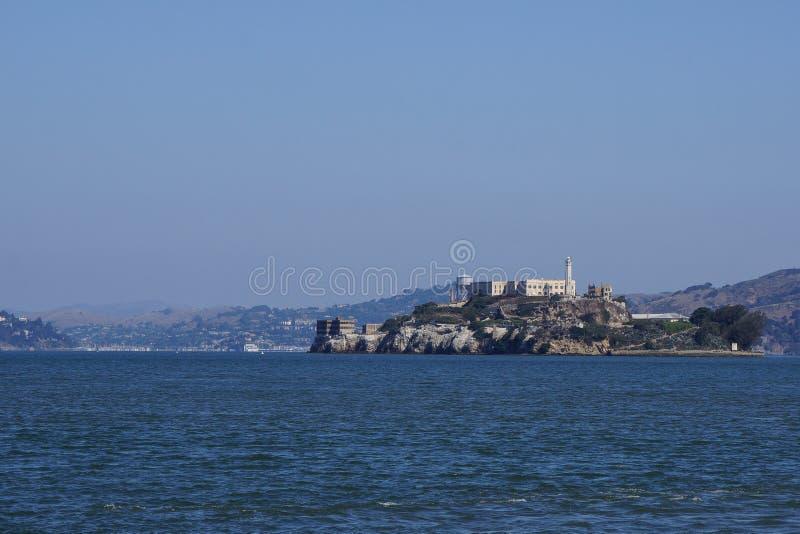 Alcatraz célèbre d'île de prison images stock