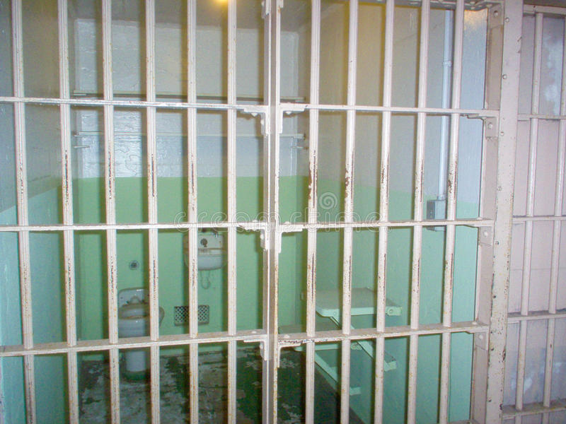 Alcatraz federal prison cell, Alcatraz Island, San Francisco, California, USA stock image