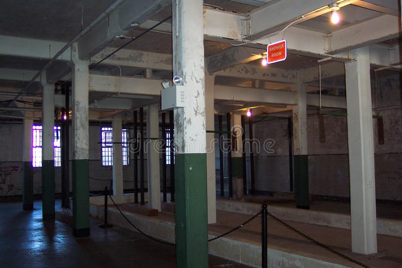 Alcatraz-gefängnis-duschkabine Kostenlose Stockfotografie