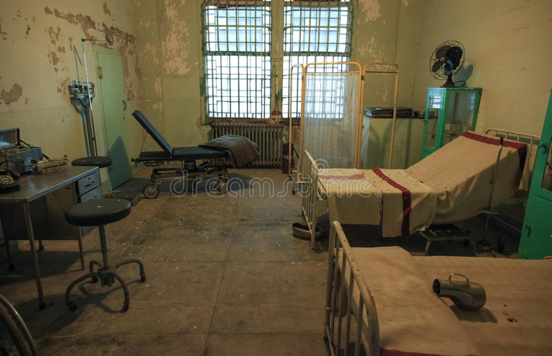 Alcatraz - hospital Ward Room imagens de stock