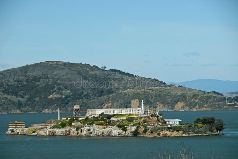 Alcatraz Island. In the San Francisco Bay royalty free stock photography