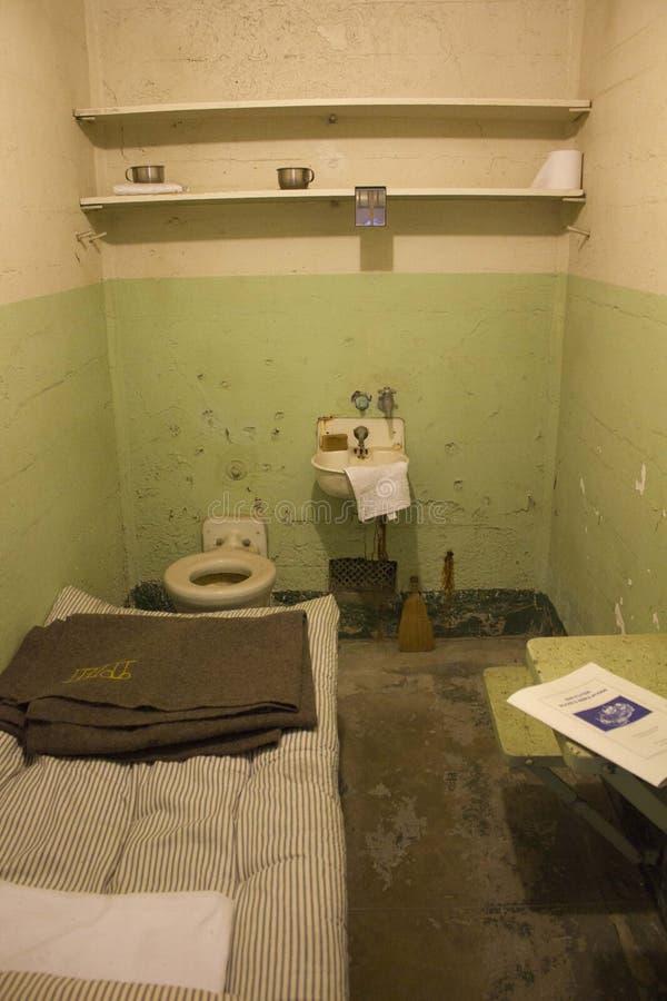 Alcatraz komórka, San Fransisco fotografia stock