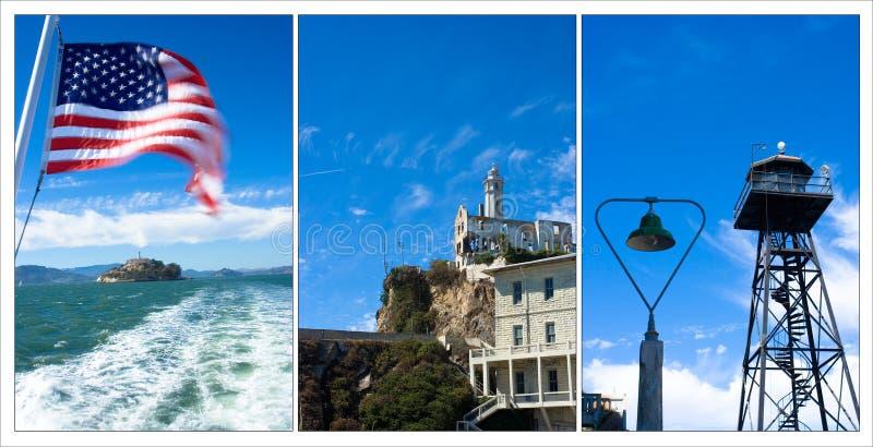 Alcatraz Kompilation stockbild