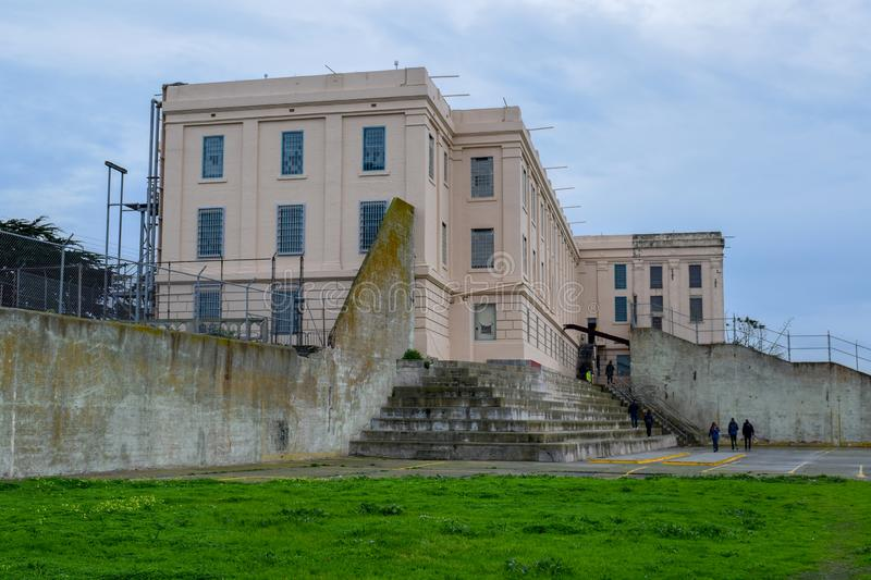 Alcatraz Penitentiary Recreation Yard stock image
