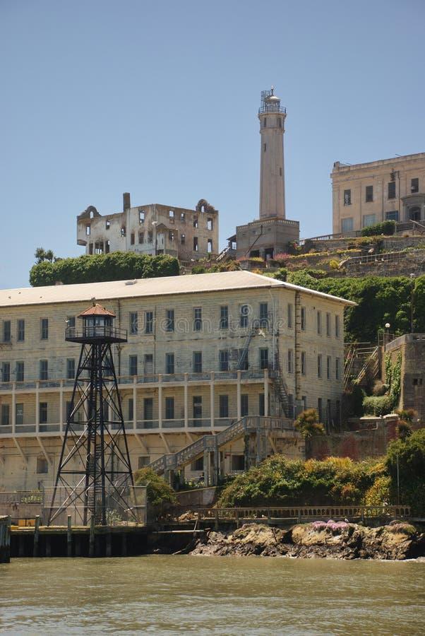 alcatraz podpalana Francisco wyspa San zdjęcia stock