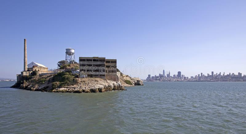 Alcatraz Prison. Island near San Francisco royalty free stock photos