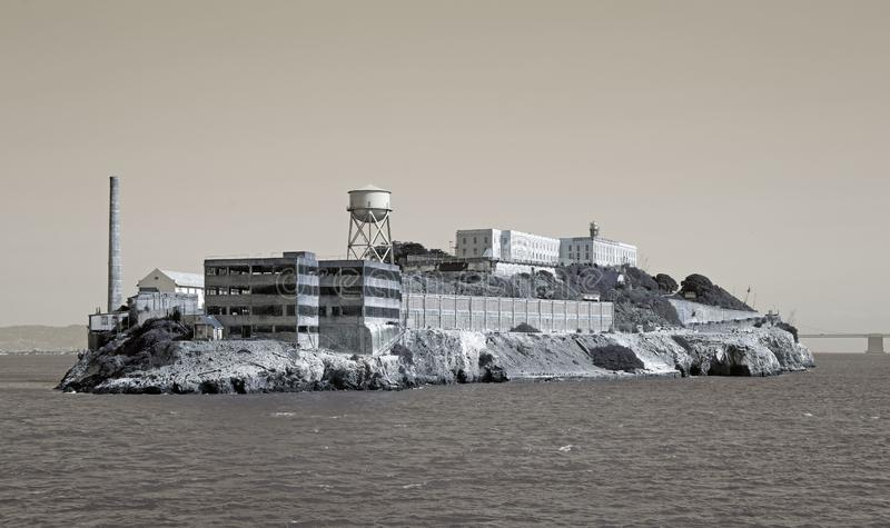 Alcatraz Prison. Island near San Francisco stock photo