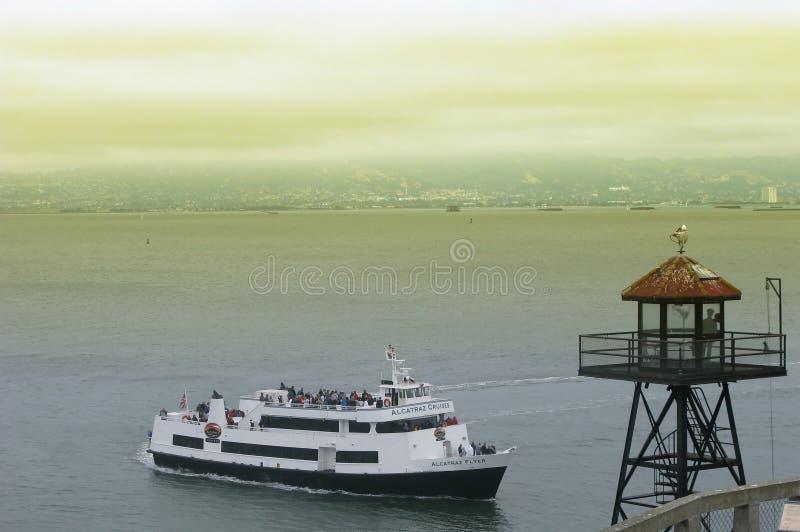 Alcatraz Reiseflüge in San Francisco lizenzfreies stockbild