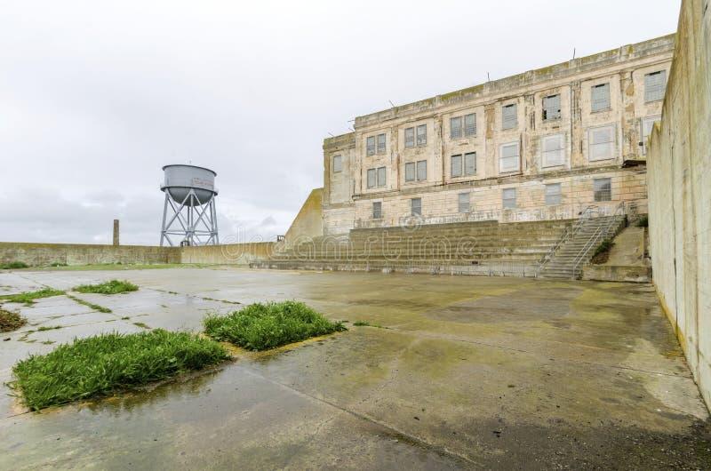 Alcatraz rekreationgård, San Francisco, Kalifornien fotografering för bildbyråer