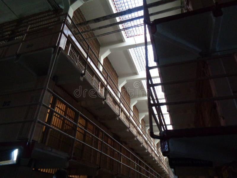 Alcatraz in San Fransico binnen de gevangenis royalty-vrije stock afbeeldingen