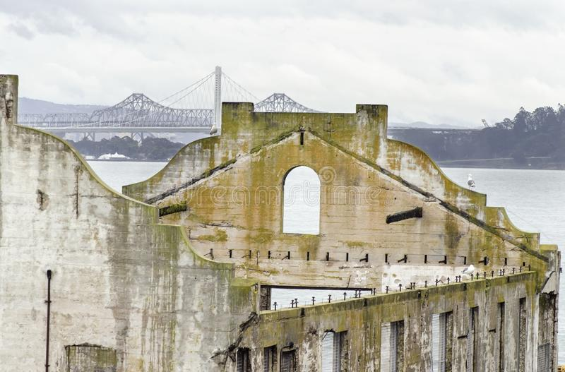 Alcatraz Sozial-Hall, San Francisco, Kalifornien lizenzfreie stockfotografie