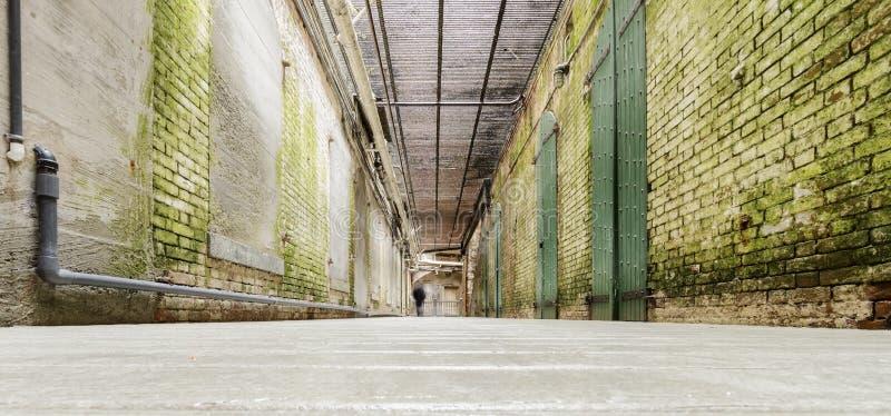 Alcatraz underjordisk tunnel, San Francisco, Kalifornien royaltyfri fotografi
