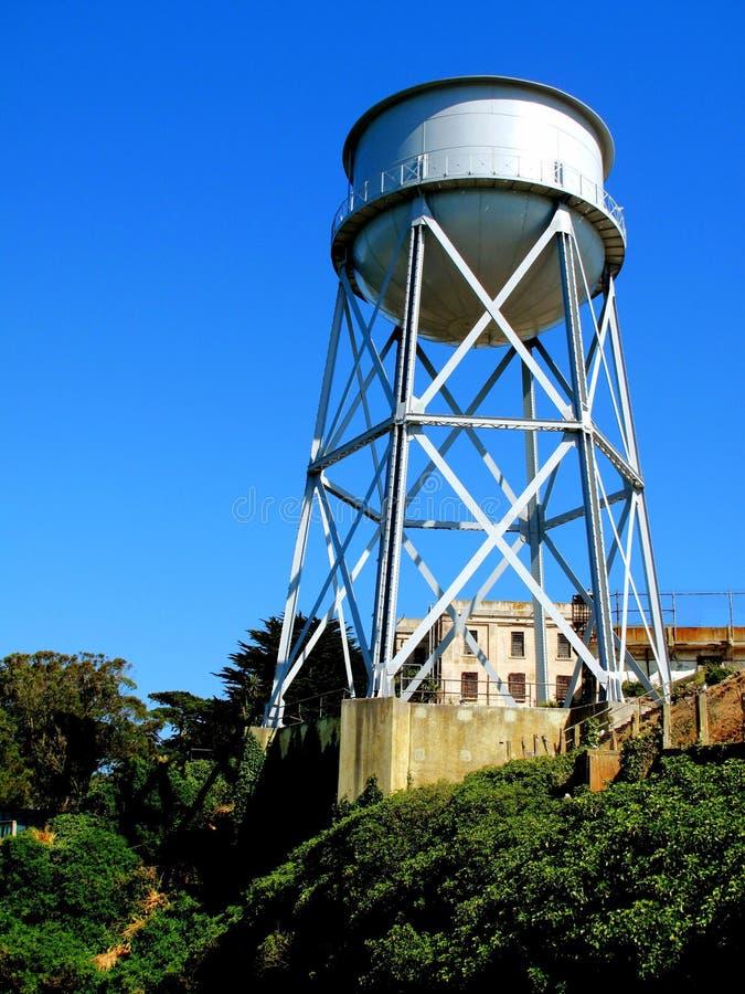 Alcatraz-Wasser-Behälter stockfoto