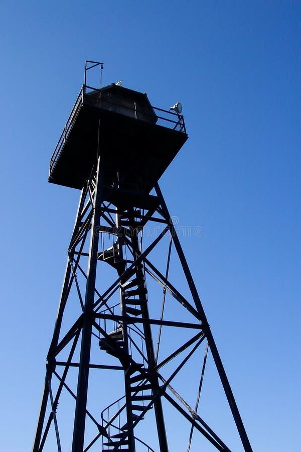 alcatraz więzienia wieży zegarek zdjęcia royalty free