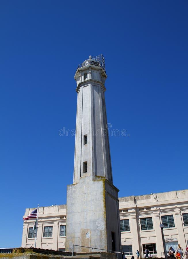 Alcatraz wyspy latarnia morska fotografia stock