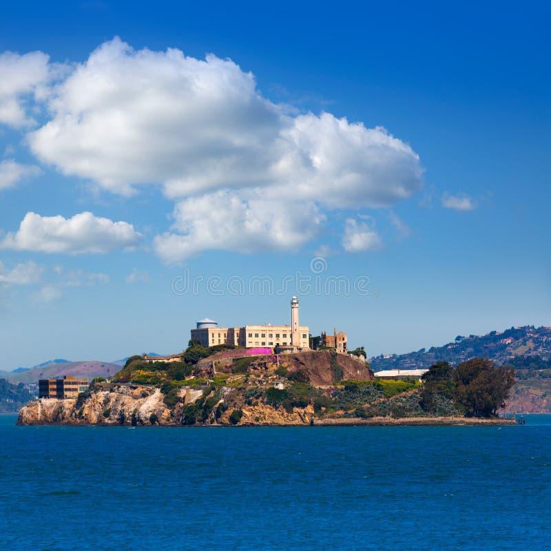 Alcatraz wyspy penitencjaria w San Fransisco zatoce Kalifornia zdjęcie royalty free