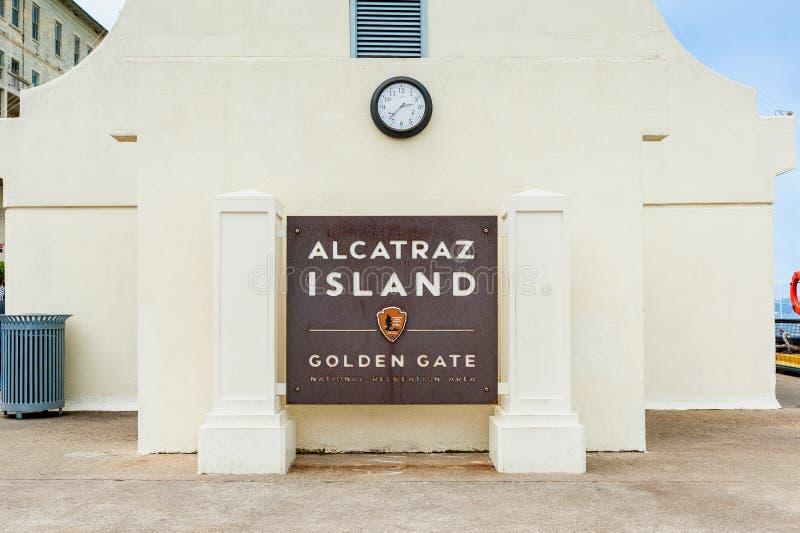 Alcatraz wyspy znak San Fransisco obraz stock