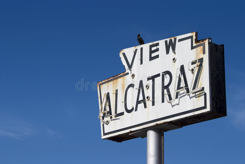 alcatraz znak obraz royalty free