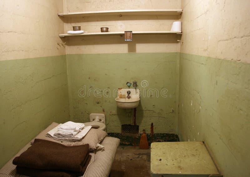 alcatrazcellfängelse arkivbilder