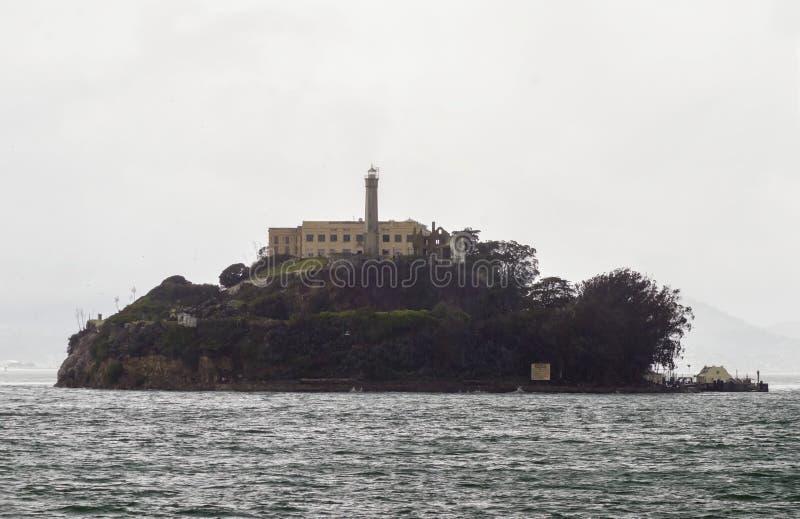 alcatrazKalifornien francisco ö san royaltyfri bild