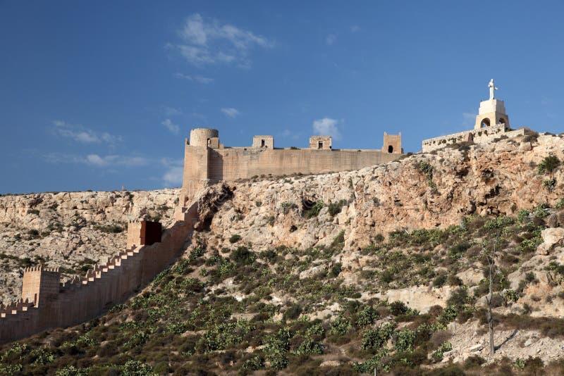 alcazaba阿尔梅里雅西班牙 库存照片