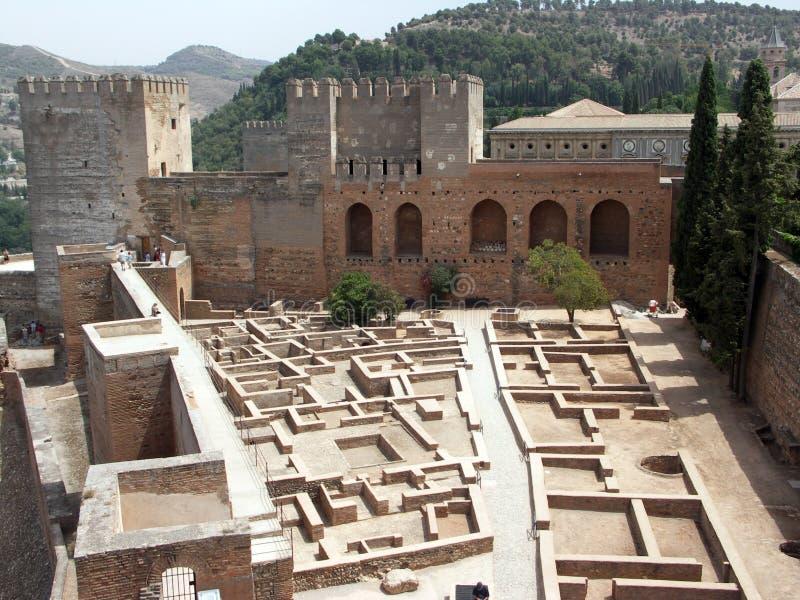 alcazaba alhambra стоковые фото